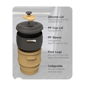 12oz Silicone Collapsible Coffee Cup
