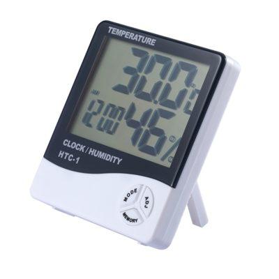 Indoor Outdoor Thermometer Hygrometer Alarm Clock