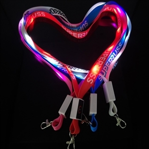 Light Up Lanyard with Metal Lobster Clip