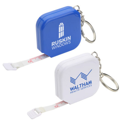 Square Tape Measure Keychain