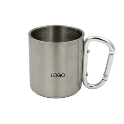 Stainless Steel Carabiner Mug Cup